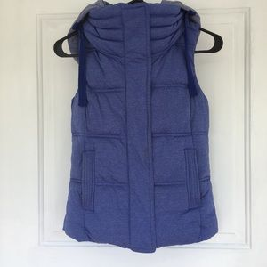 Athleta Puffy Vest With Detachable Hood